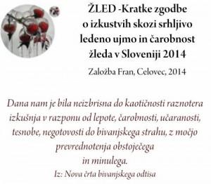 788 4 300x262 - Žled - Kratke zgodbe o izkustvih skozi srhljivo ledeno ujmo in čarobnost žleda v Sloveniji 2014 - predstavitev knjige