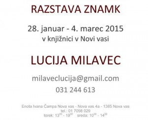 805 2 300x244 - Lucija Milavec - razstava znamk