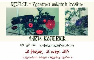 825 1 300x194 - Marta Kvaternik: Rožice - razstava unikatnih izdelkov