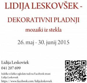 883 2 300x287 - Lidija Leskovšek: Razstava dekorativnih pladnjev - mozaikov iz stekla