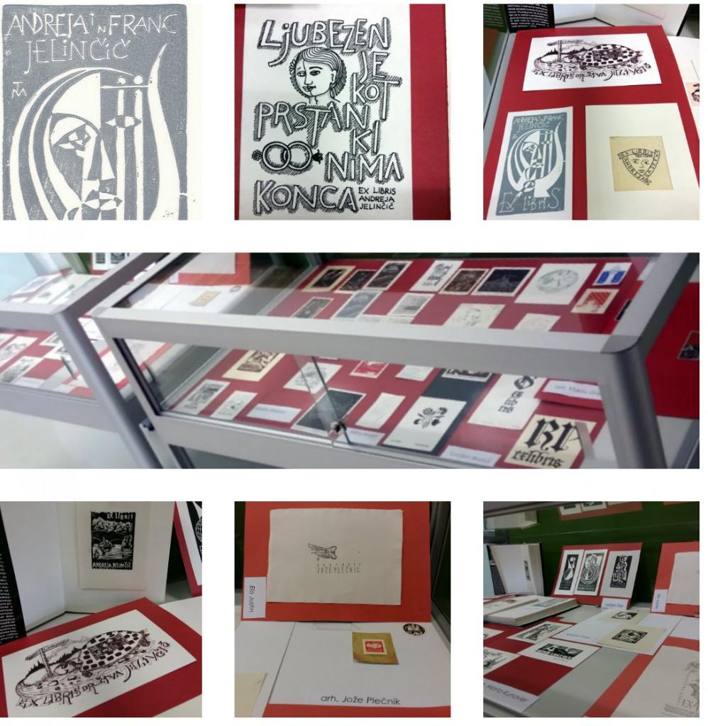 collage ex libris 998x1024 - Razstava ex-librisov iz zbirke družine Jelinčič