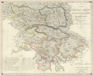 Kindermann Charte von Kaernthen und Krain 1803 1024 300x247 - Zemljevidi