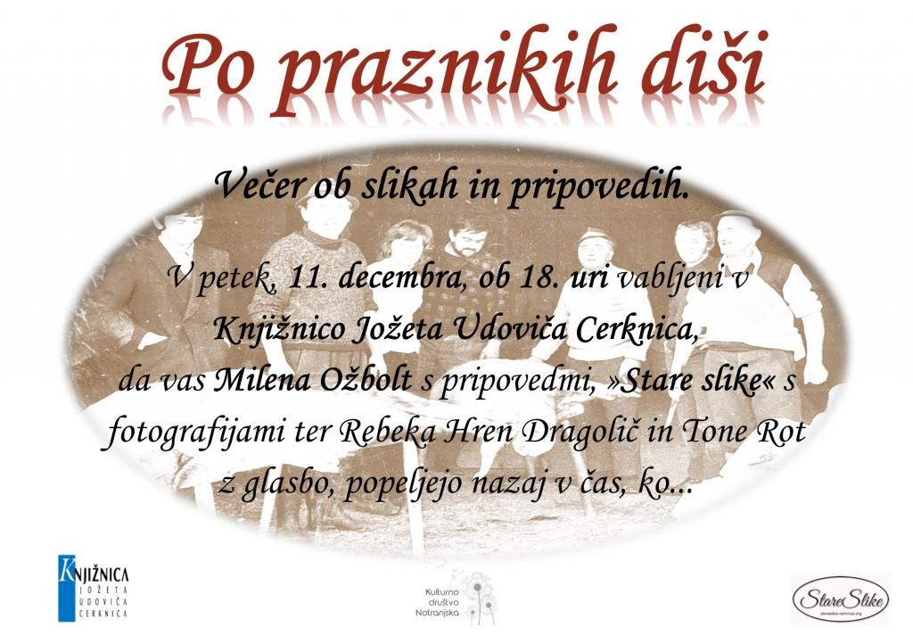 Po praznikih disi 1024x722 - Po praznikih diši - večer ob starih slikah in pripovedih z Mileno Ožbolt