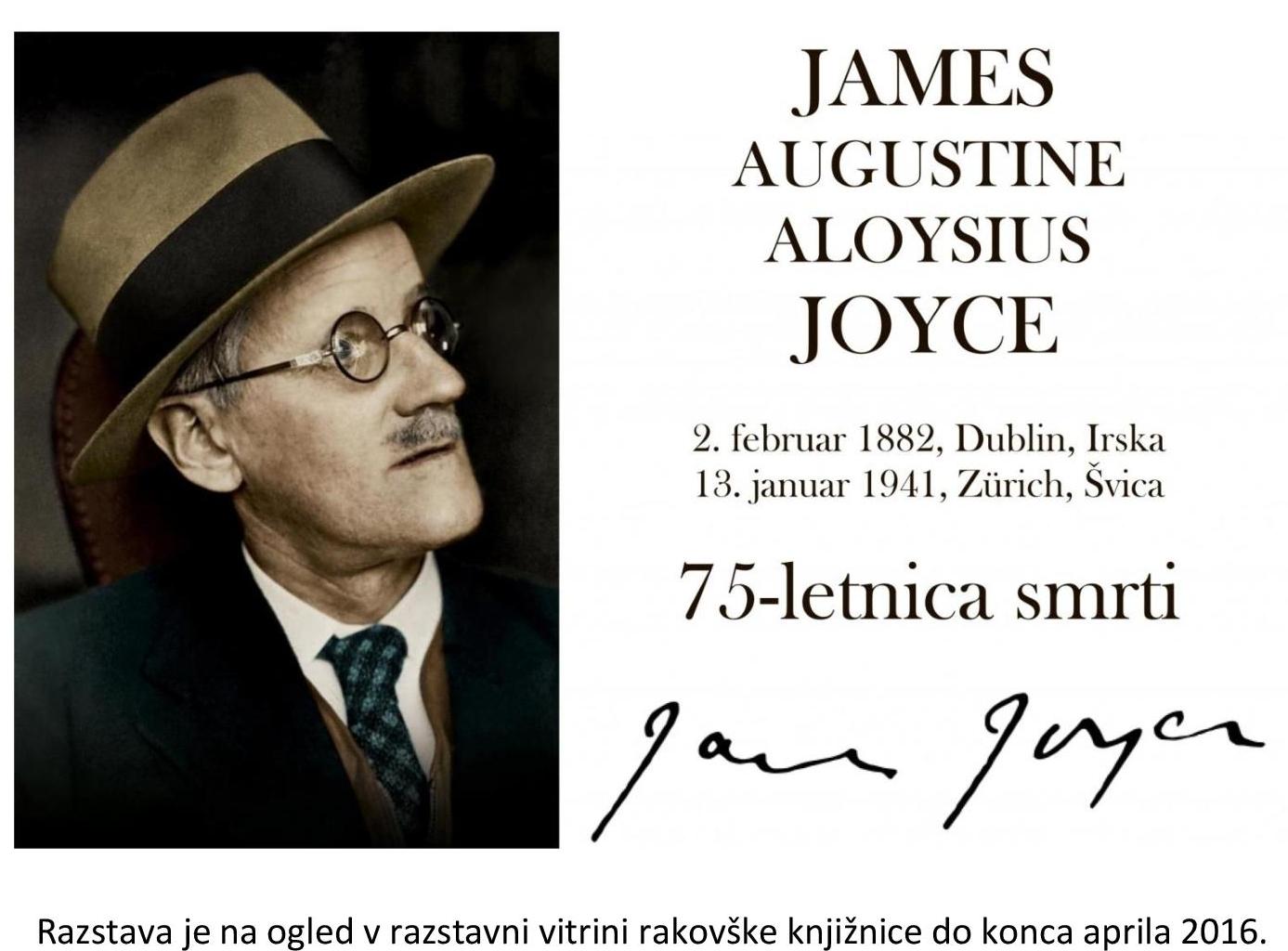 cover 5 - James Joyce – razstava ob 75-letnici smrti