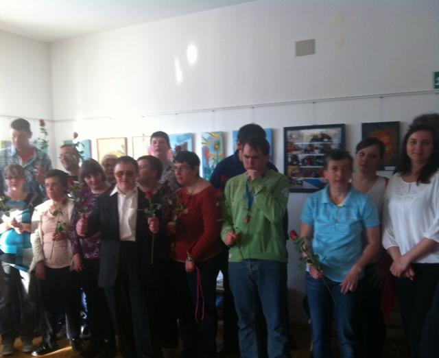 image 2 - Skupaj zmoremo - otvoritev razstave del VDC Cerknica