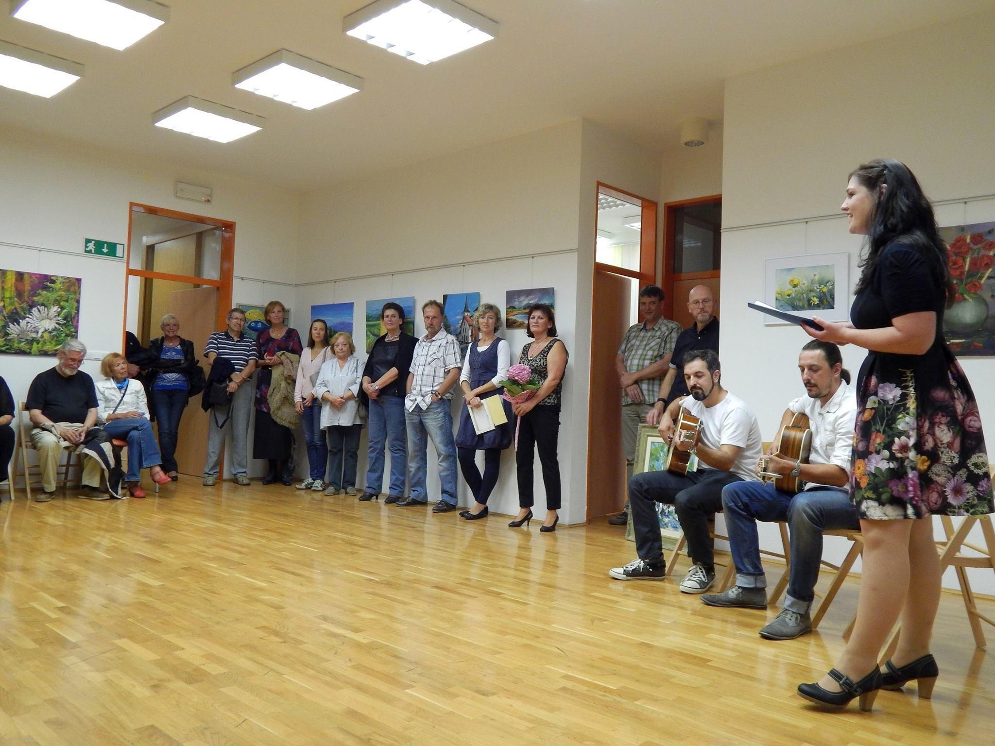 lk13 - Otvoritev razstave 5. mednarodne likovne kolonije v organizaciji Slovenskega kulturnega društva Gorski kotar