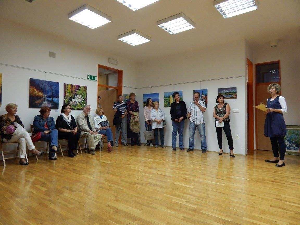 lk4 - Otvoritev razstave 5. mednarodne likovne kolonije v organizaciji Slovenskega kulturnega društva Gorski kotar
