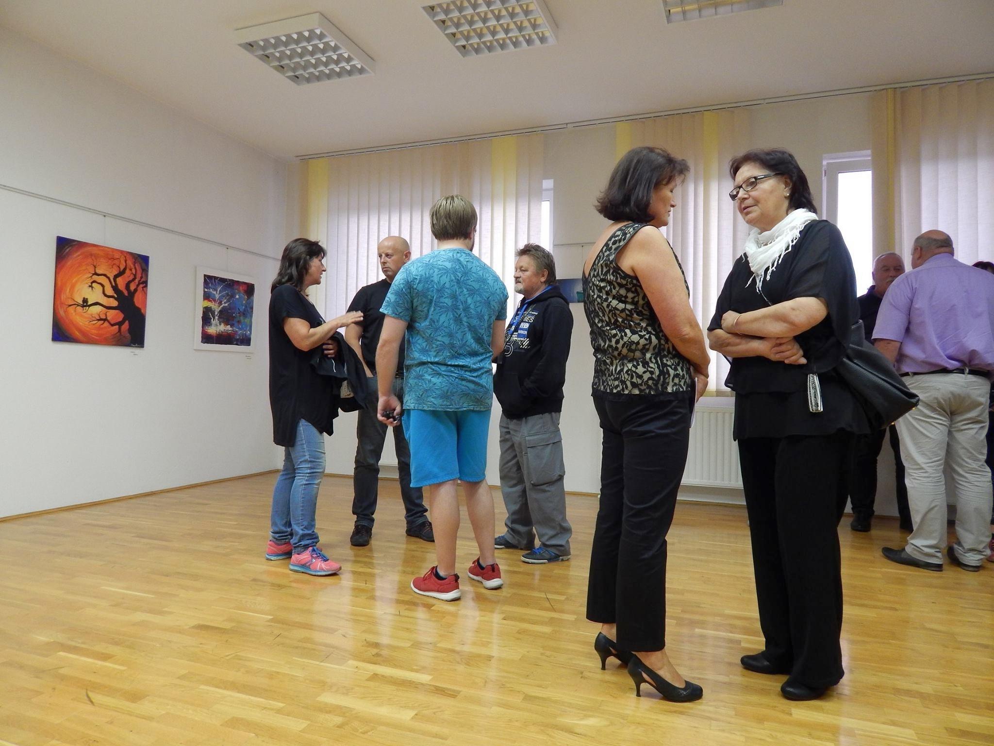 lk7 - Otvoritev razstave 5. mednarodne likovne kolonije v organizaciji Slovenskega kulturnega društva Gorski kotar