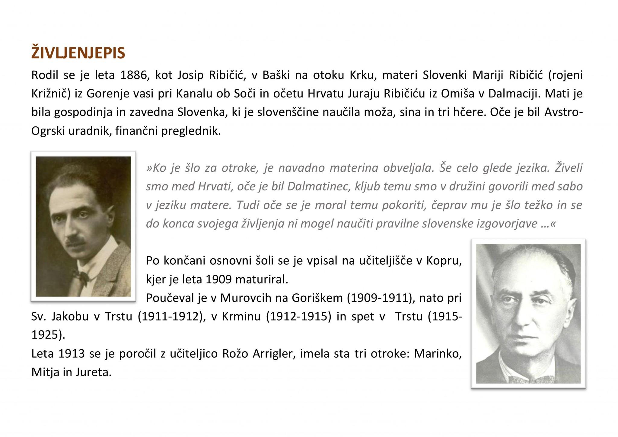 življenjepis page 001 - Josip Ribičič - razstava ob 130-letnici rojstva
