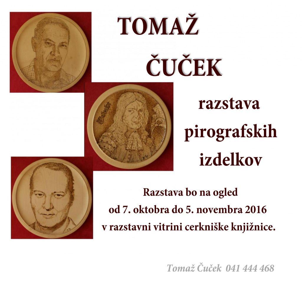 vabilo FB 1024x951 - Tomaž Čuček - razstava pirografskih izdelkov