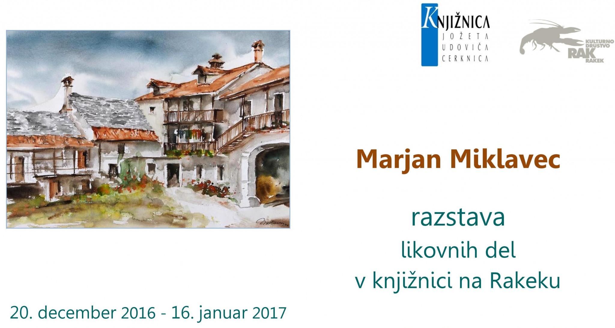 cover 2 - Marjan Miklavec: razstava likovnih del