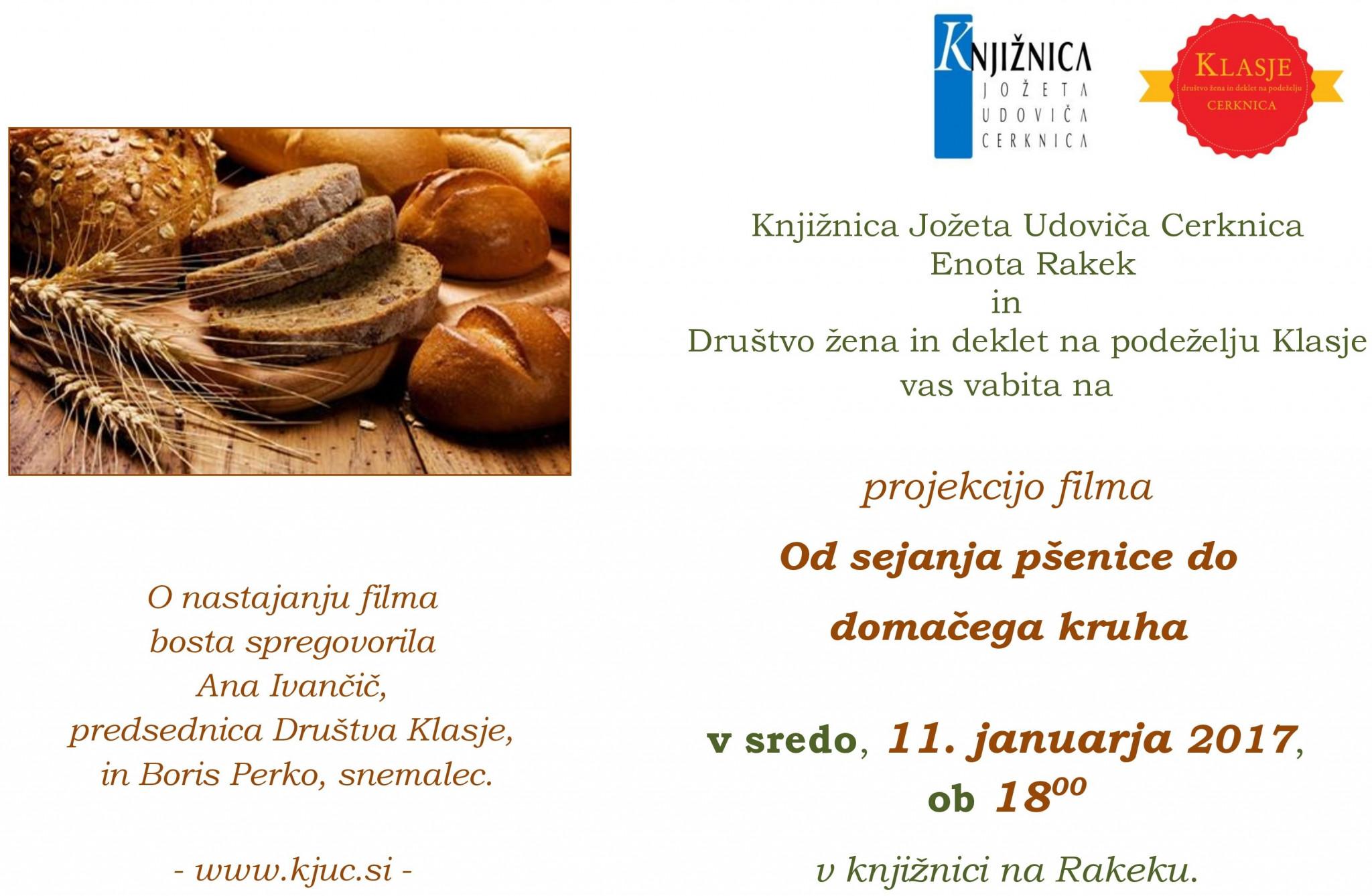 cover 3 - Projekcija filma: Od sejanja pšenice do domačega kruha