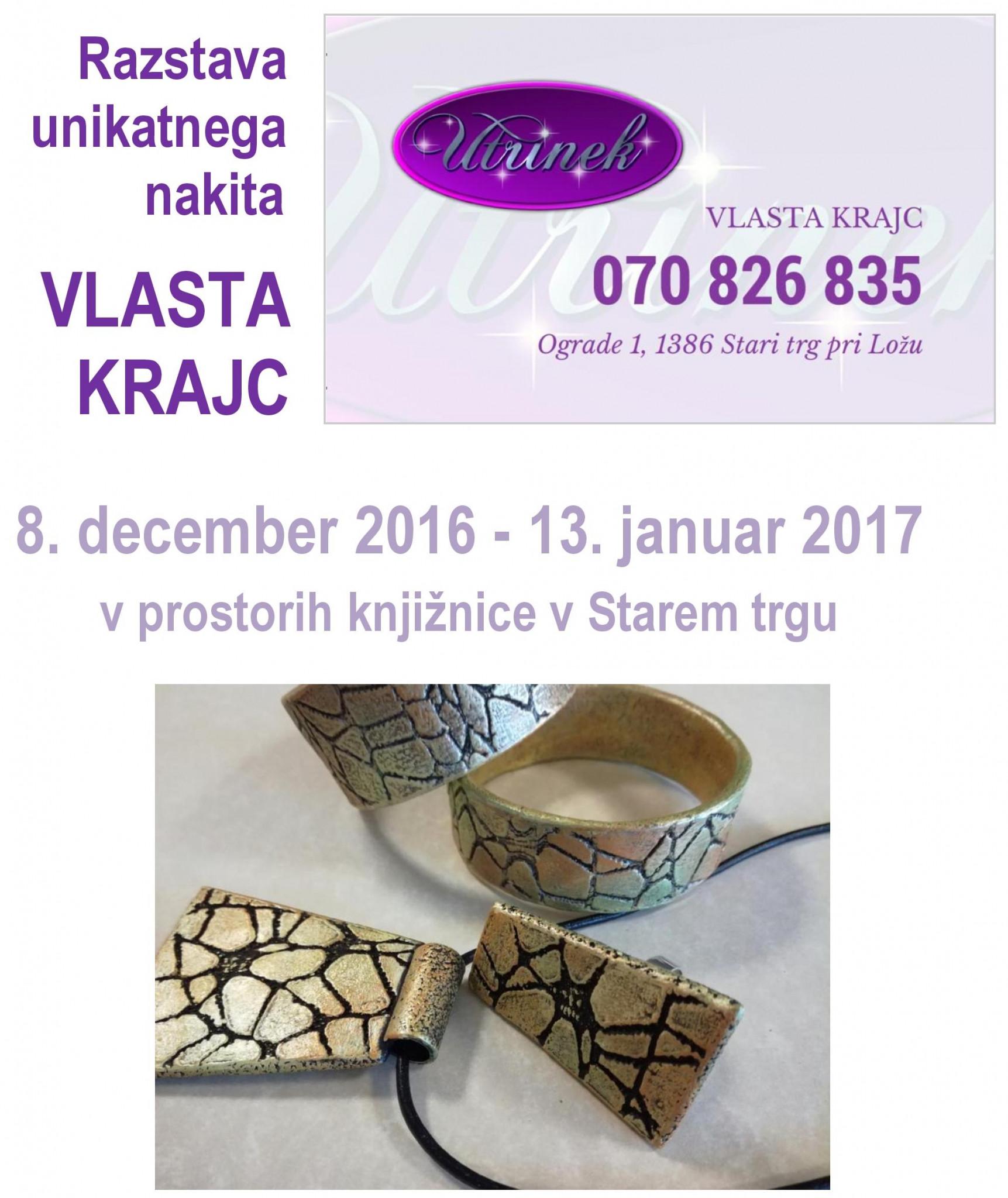 cover - Vlasta Krajc - razstava unikatnega nakita