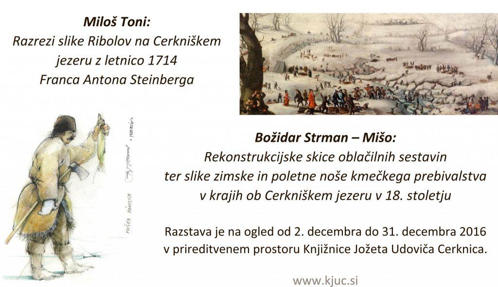 razstava 1024x591 - Miloš Toni:  Razrezi slike Ribolov na Cerkniškem jezeru z letnico 1714  Franca Antona Steinberga