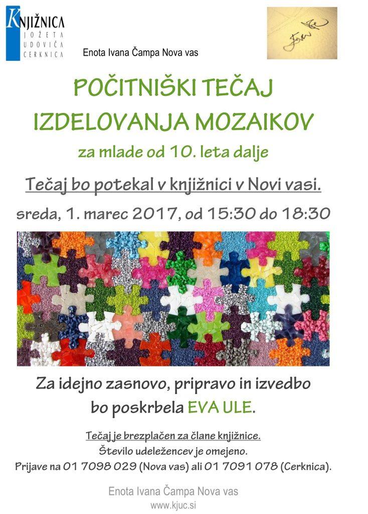 Enota Ivana Čampa Nova vas 734x1024 - Počitniški tečaj izdelovanja mozaikov v Novi vasi