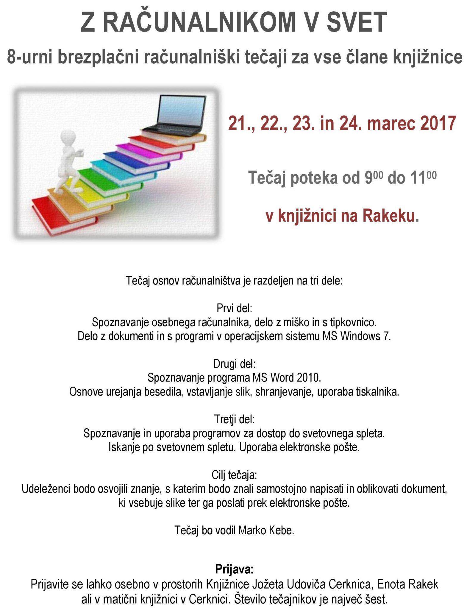 cover 4 - Z računalnikom v svet - 8-urni brezplačni računalniški tečaj za vse člane knjižnice