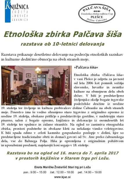 palčava šiša. razstava o delovanju page 001 - Etnološka zbirka Palčava šiša - razstava ob 10-letnici delovanja