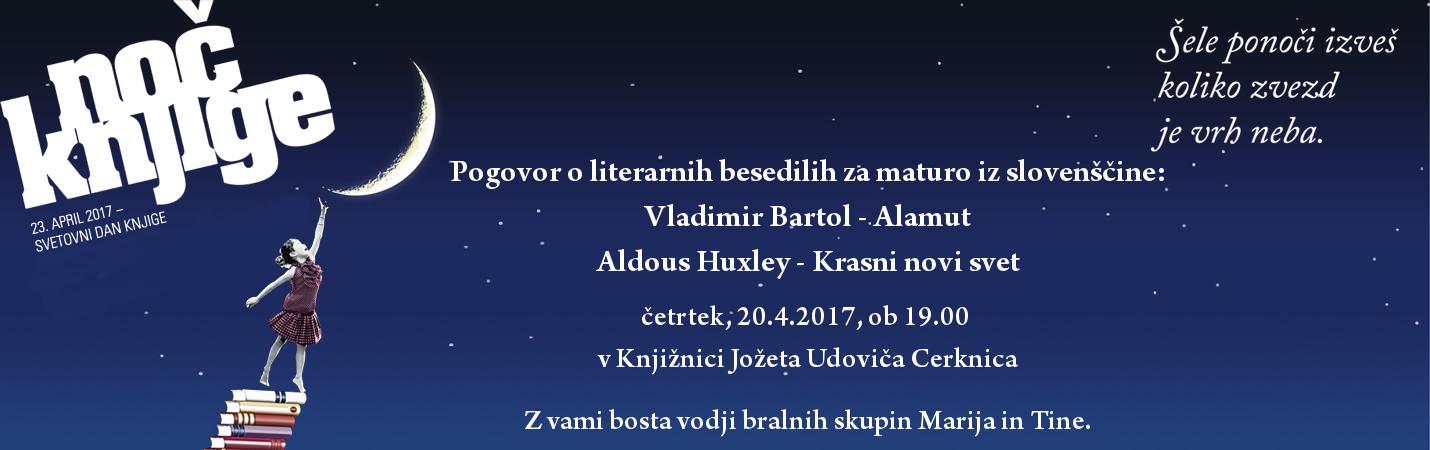 vabilo - Pogovor o literarnih besedilih za maturo iz slovenščine