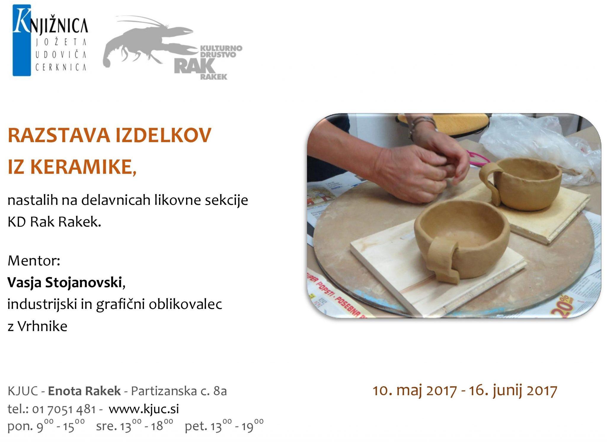 vabilo keramika page 001 - KD Rak Rakek - razstava izdelkov iz keramike