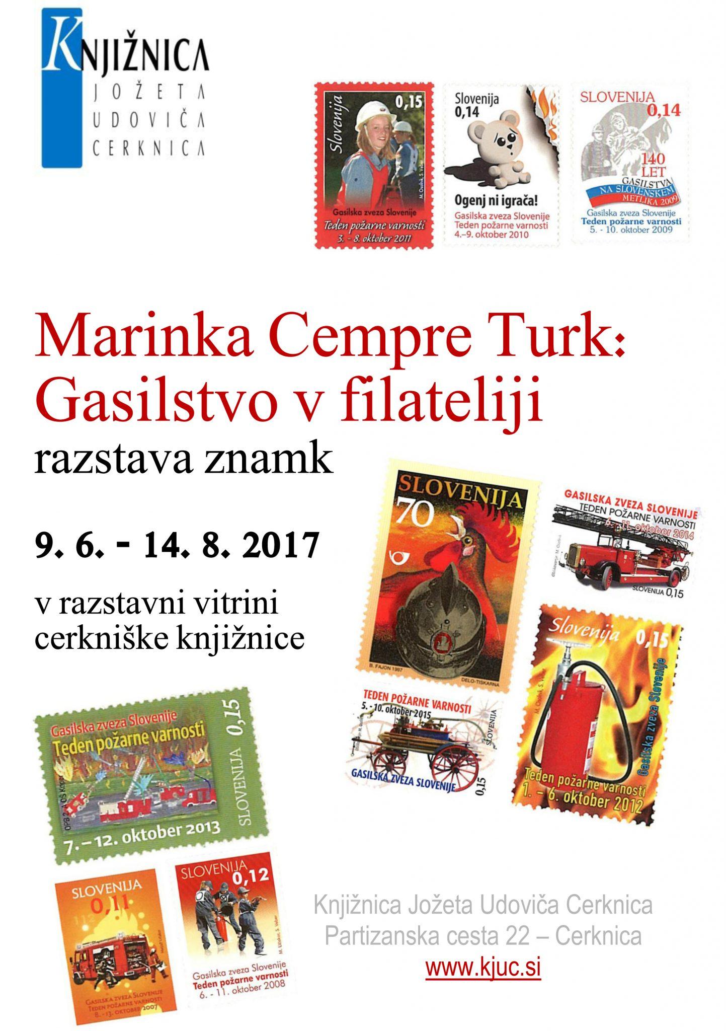 vabilo kopija - Marinka Cempre Turk: Gasilstvo v filateliji