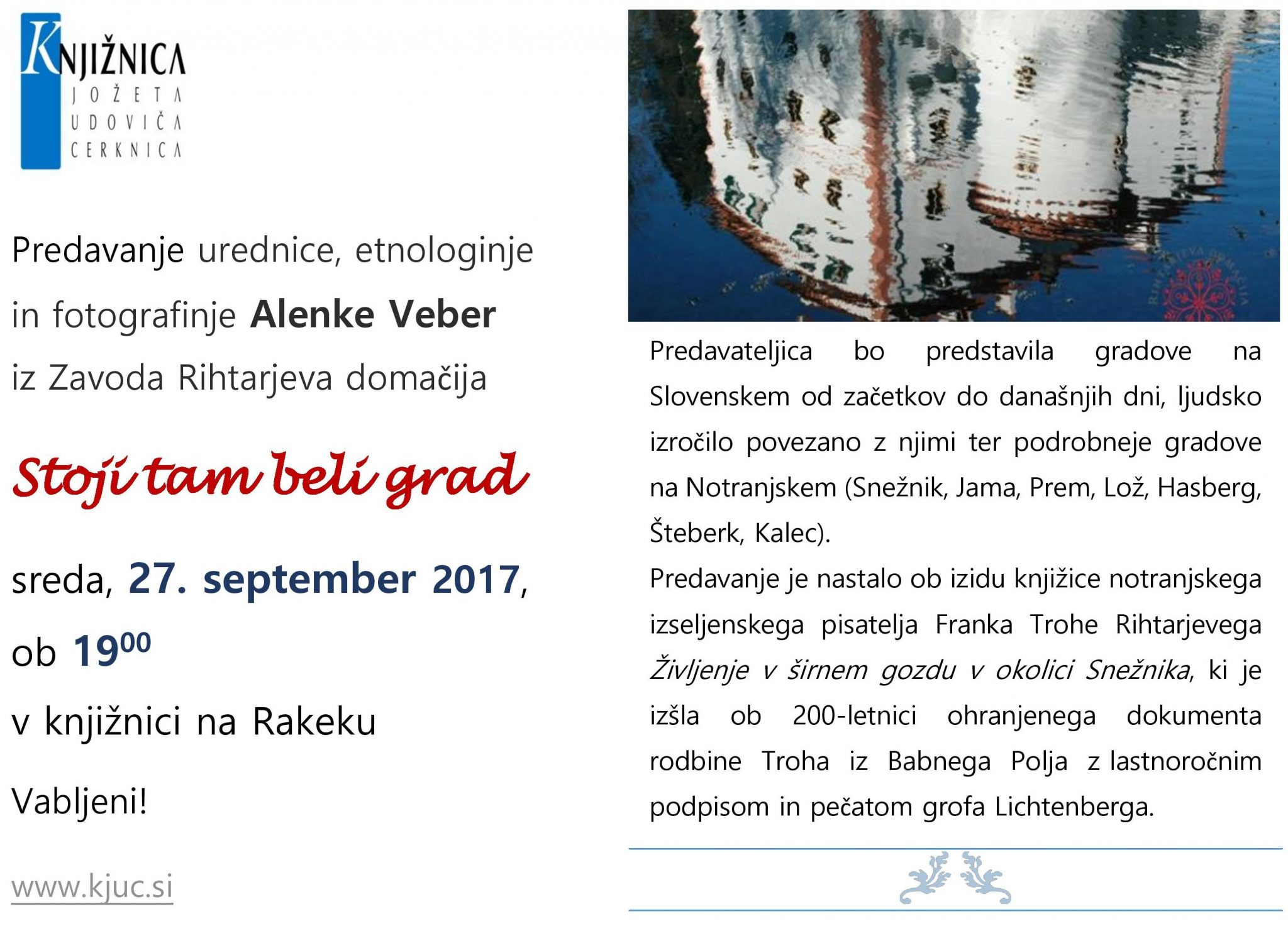 cover 2 - Alenka Veber: Stoji tam beli grad - predavanje