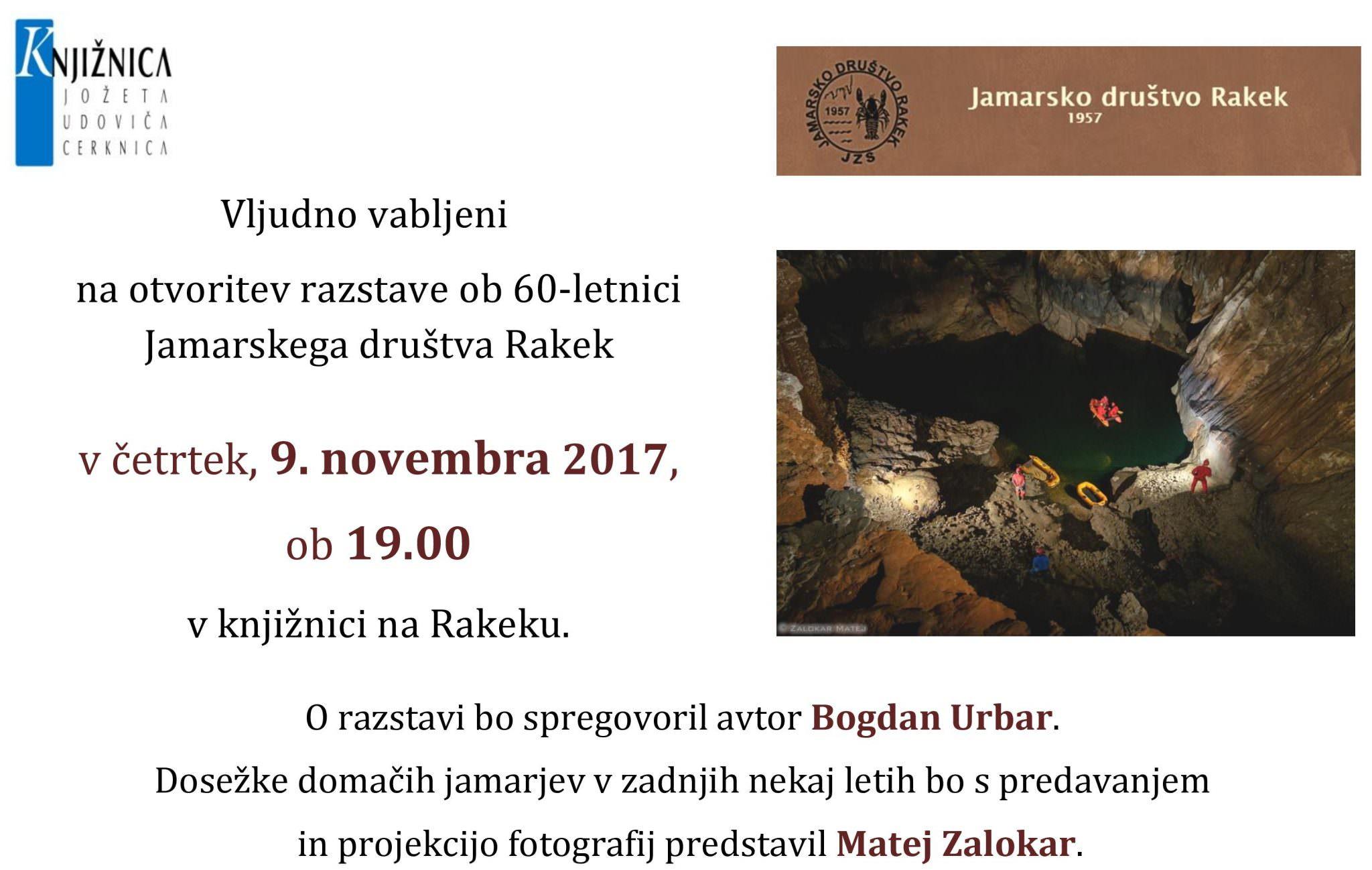 cover 10 - Otvoritev razstave ob 60-letnici Jamarskega društva Rakek