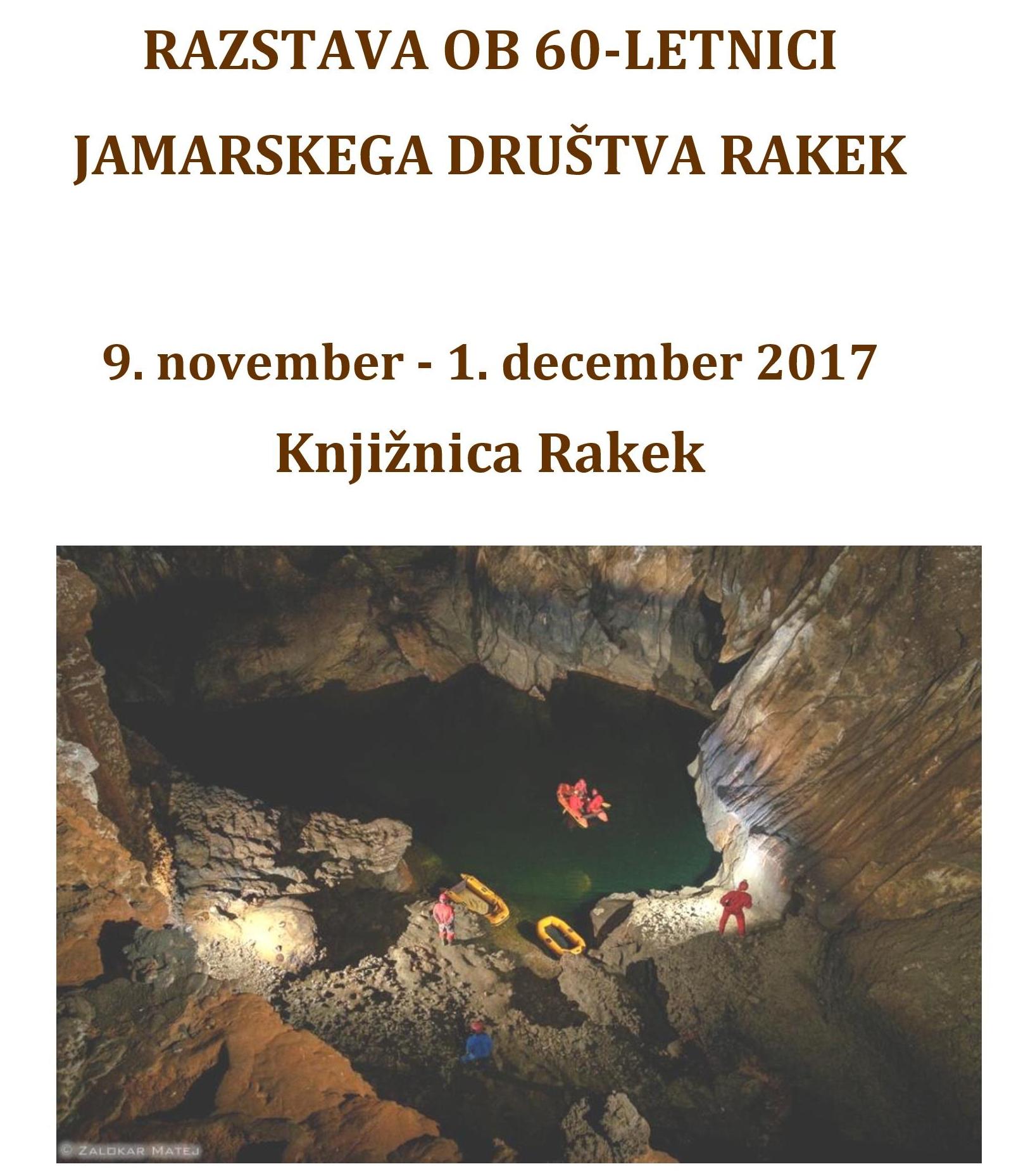 cover 4 - Razstava ob 60-letnici Jamarskega društva Rakek