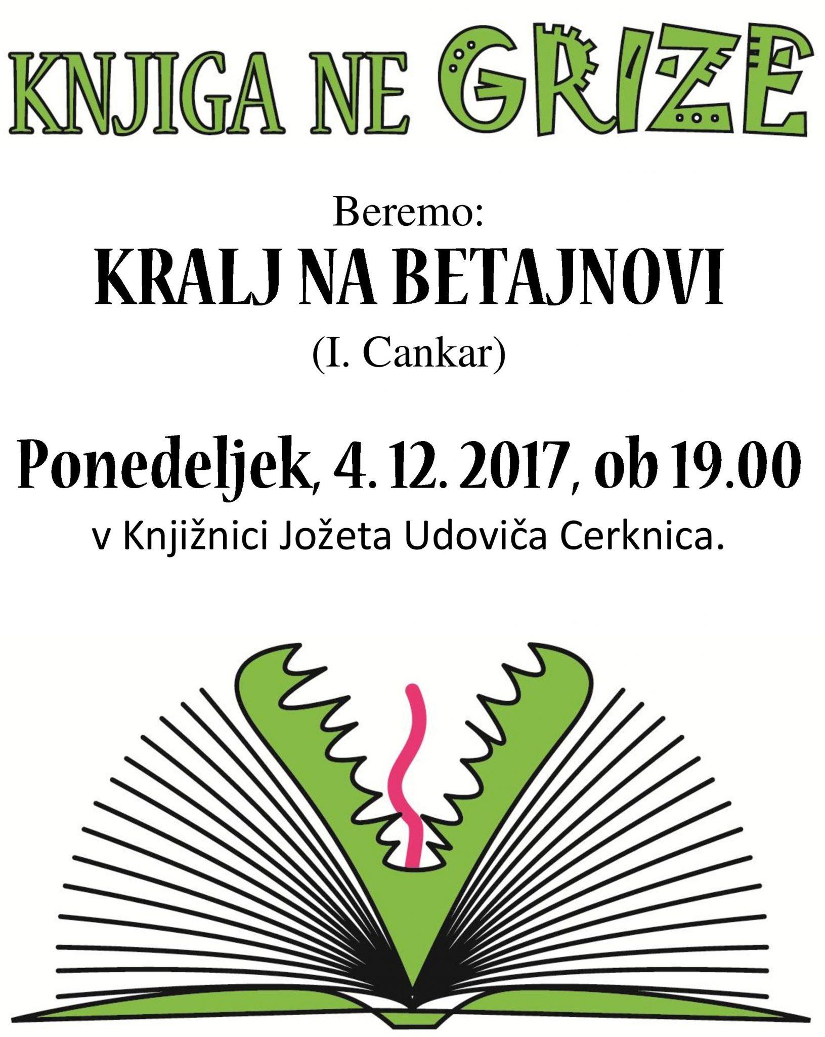 cover - Knjiga ne grize: I. Cankar - Kralj na Betajnovi