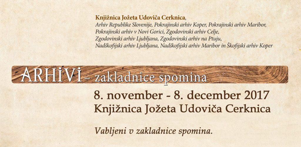 razstava 1 1024x500 - Arhivi - zakladnice spomina - potujoča razstava slovenske arhivske dediščine