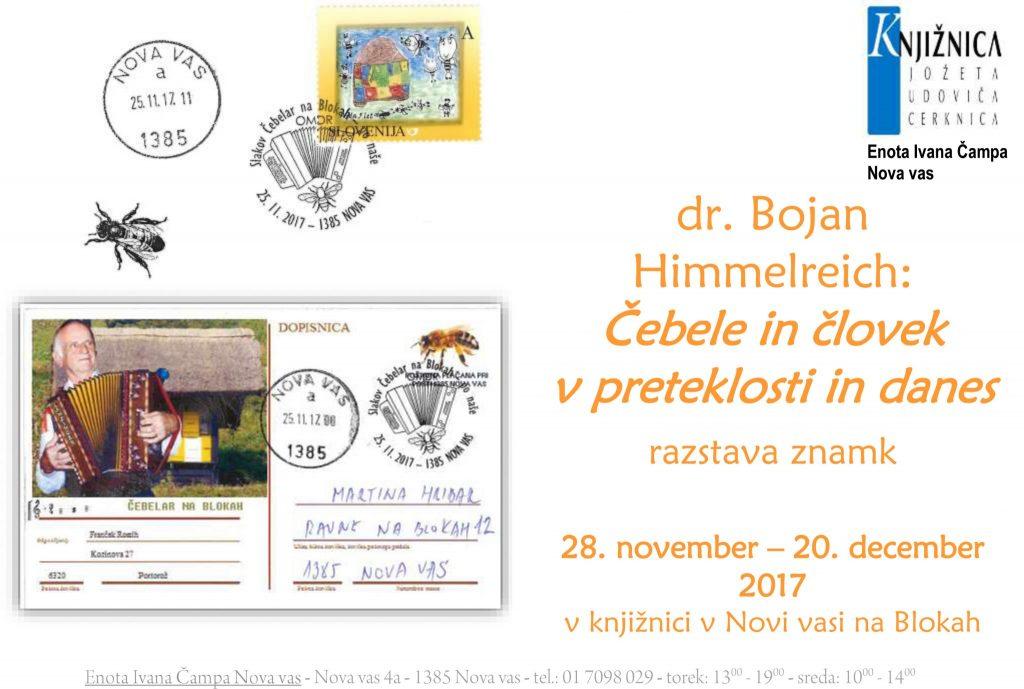 čebele razstava znamk 1024x689 - Bojan Himmelreich: Čebele in človek v preteklosti in danes - razstava znamk