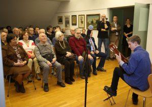 OTVORITEV RAZSTAVE 06 FOTO LJUBO VUKELIČ 300x211 - Ivan Matičič - otvoritev razstave ob 130-letnici rojstva