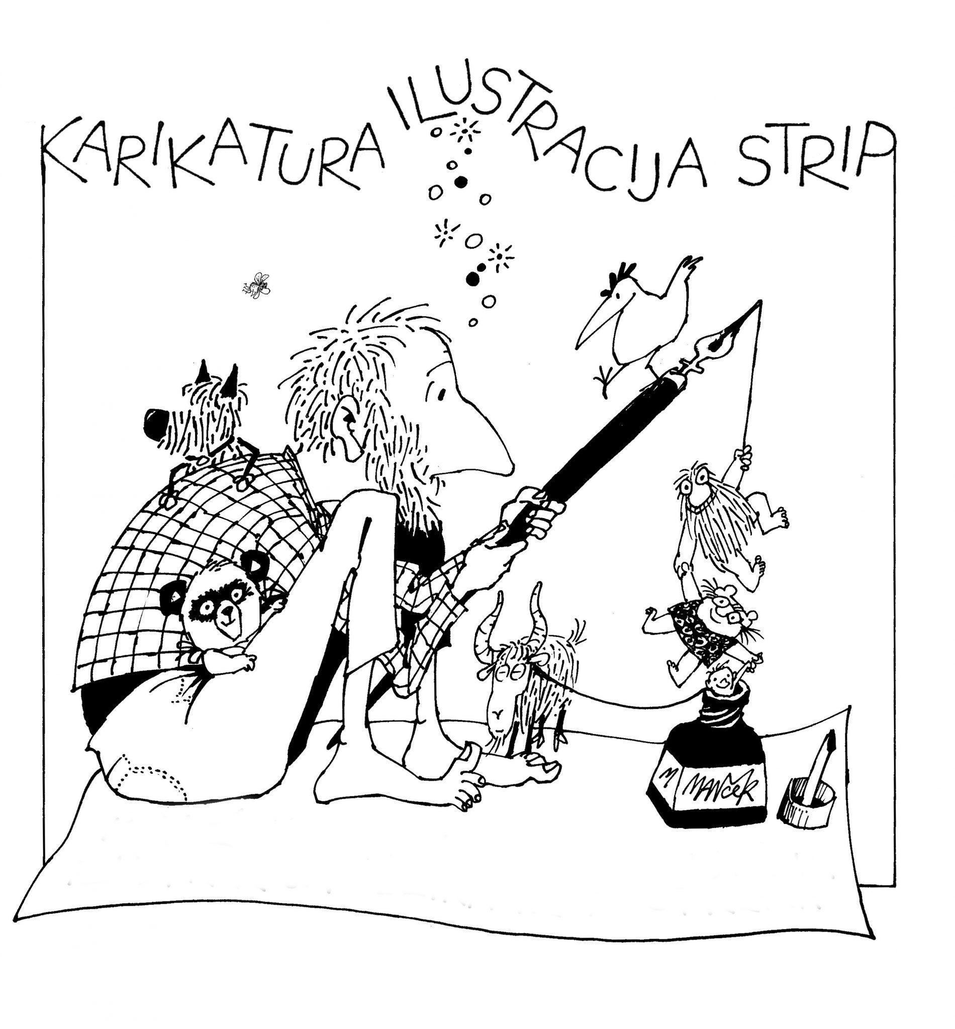 MM karikatura - Marjan Manček - otvoritev razstave ob 70. jubileju