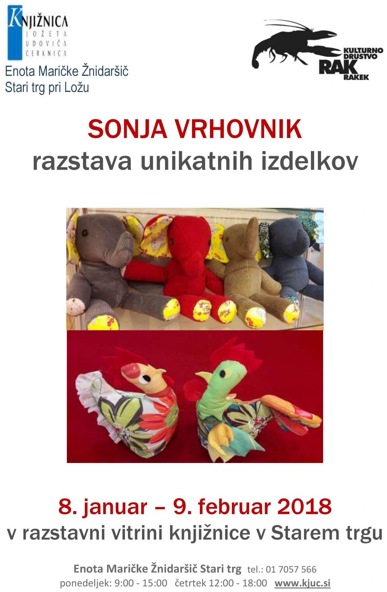 cover 6 - Sonja Vrhovnik - razstava unikatnih izdelkov
