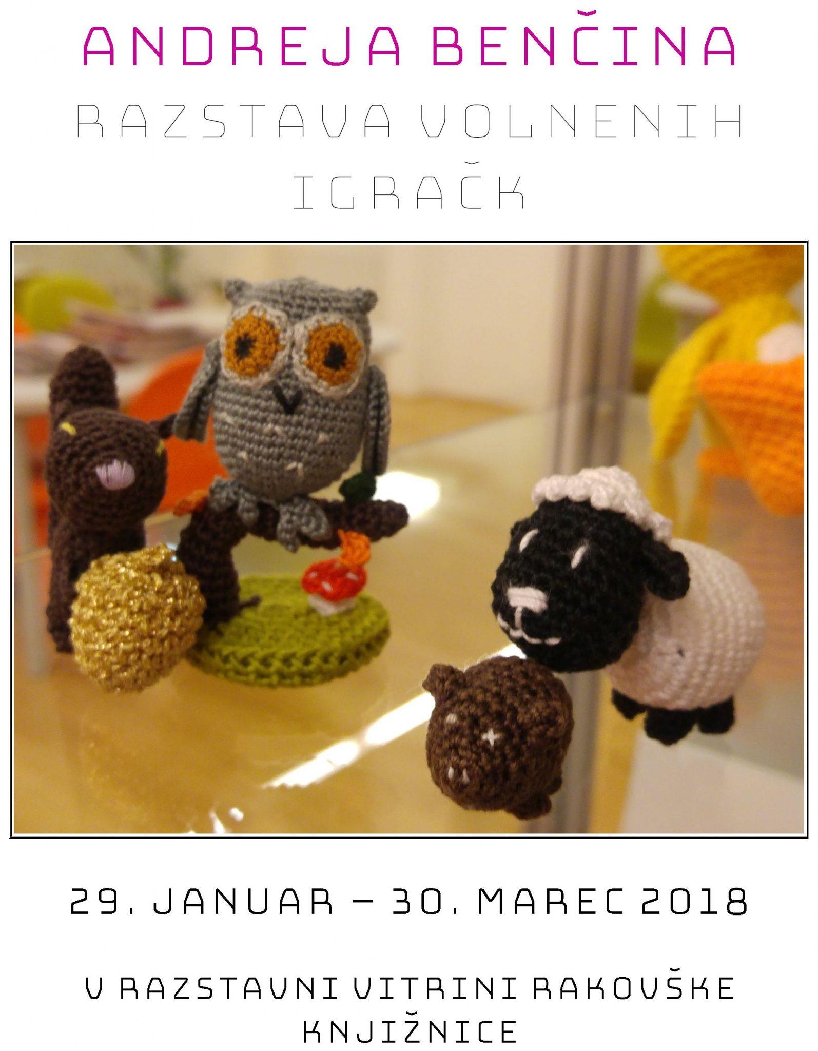 cover2 - Andreja Benčina - razstava volnenih igračk