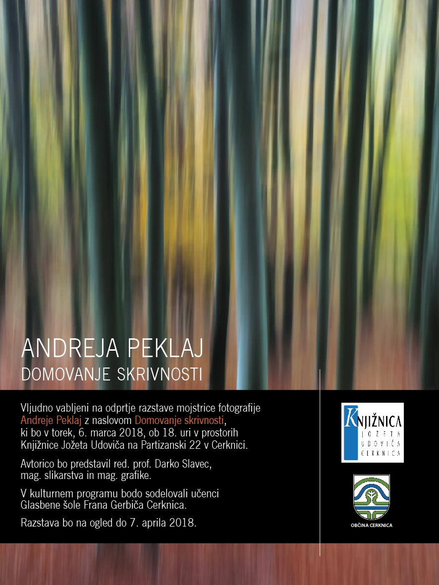 E vabilo PEKLAJ 1 - Andreja Peklaj: Domovanje skrivnosti - odprtje fotografske razstave