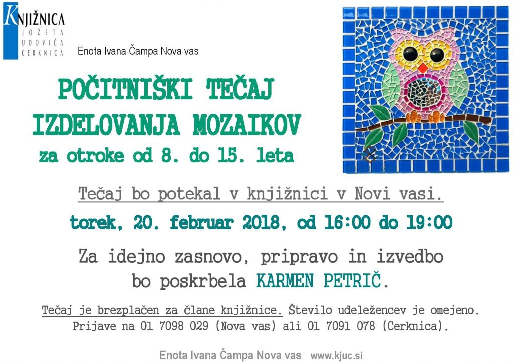 mozaiki 1024x726 - Počitniški tečaj izdelovanja mozaikov za otroke