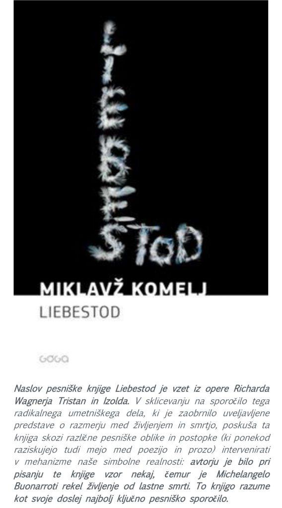 vabilo2 568x1024 - Miklavž Komelj: Liebestod - literarni večer ob svetovnem dnevu poezije