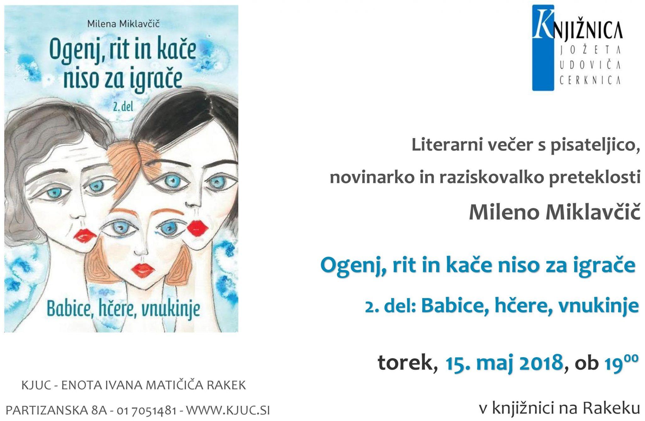 cover 5 - Literarni večer z Mileno Miklavčič