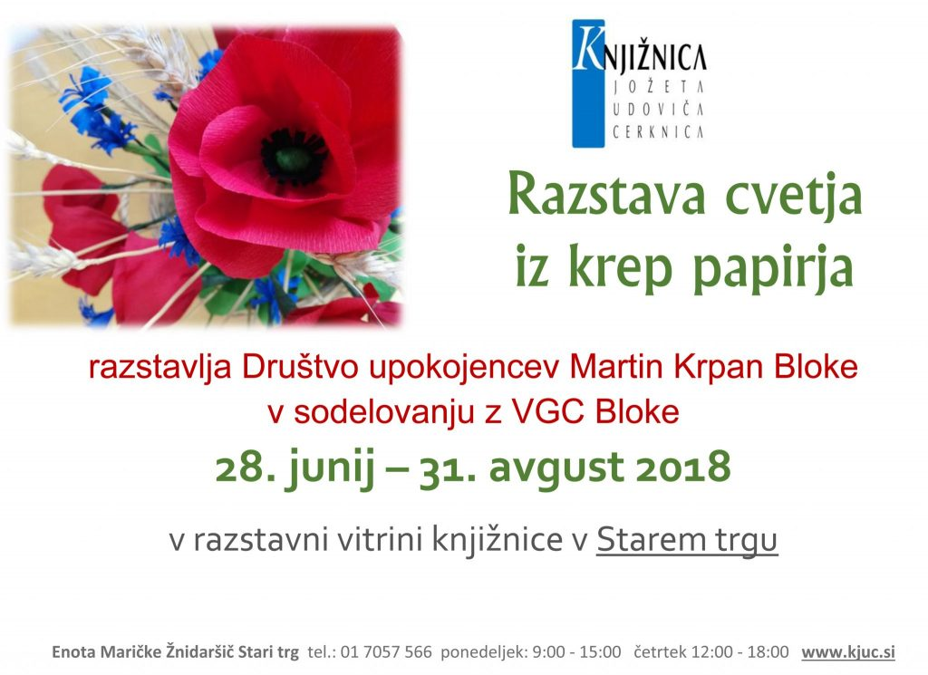 Razstava cvetja iz krep papirja 1024x745 - Razstava cvetja iz krep papirja