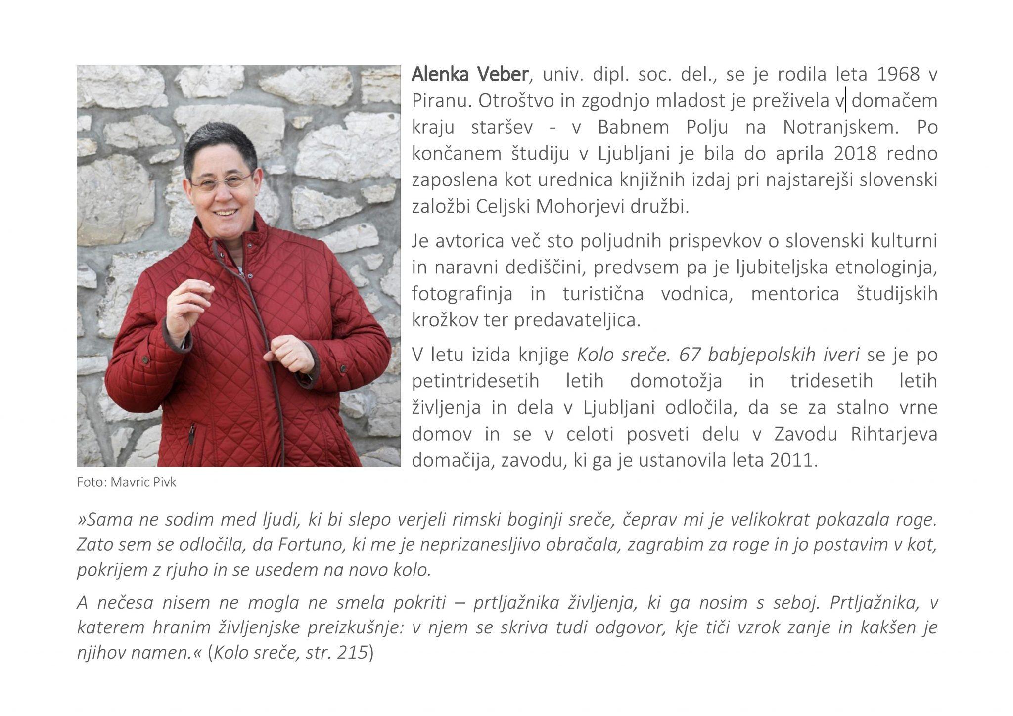 kolo.srece vabilo page 002 - Alenka Veber – Kolo sreče. 67 babjepolskih iveri – predstavitev knjige
