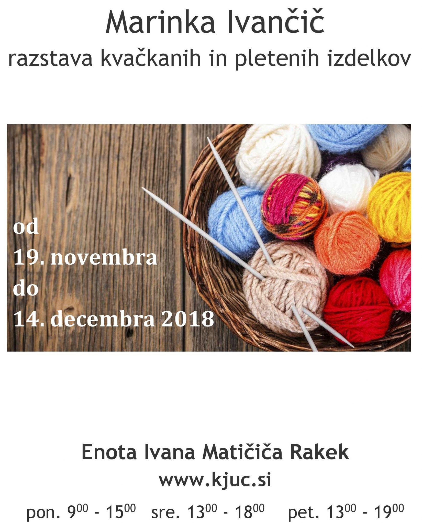 cover 7 - Marinka Ivančič - razstava kvačkanih in pletenih izdelkov