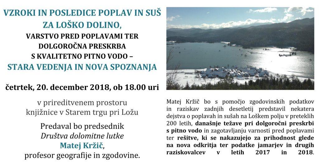 1st krzic poplave 2018 1024x524 - Matej Kržič: Vzroki in posledice poplav in suš za Loško dolino