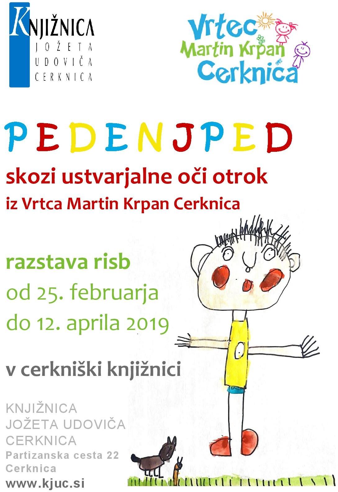 PEDENJPED vabilo page 001 - Pedenjped skozi ustvarjalne oči otrok iz Vrtca Martin Krpan Cerknica