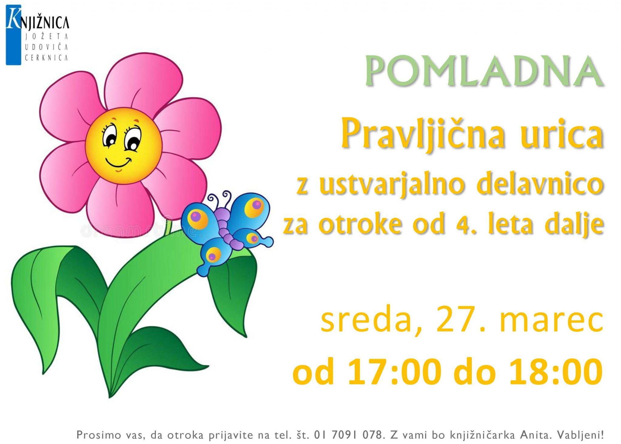 cover 3 - Pravljična urica z ustvarjalno delavnico za otroke od 4. leta dalje - Cerknica