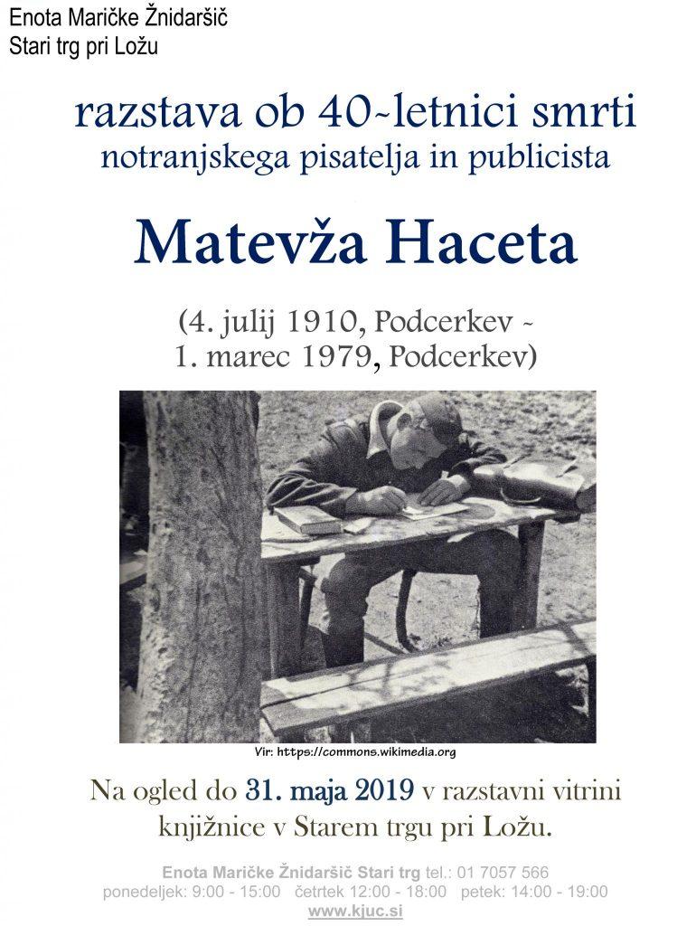 Hace.razstava 1 770x1024 - Razstava ob 40-letnici smrti Matevža Haceta