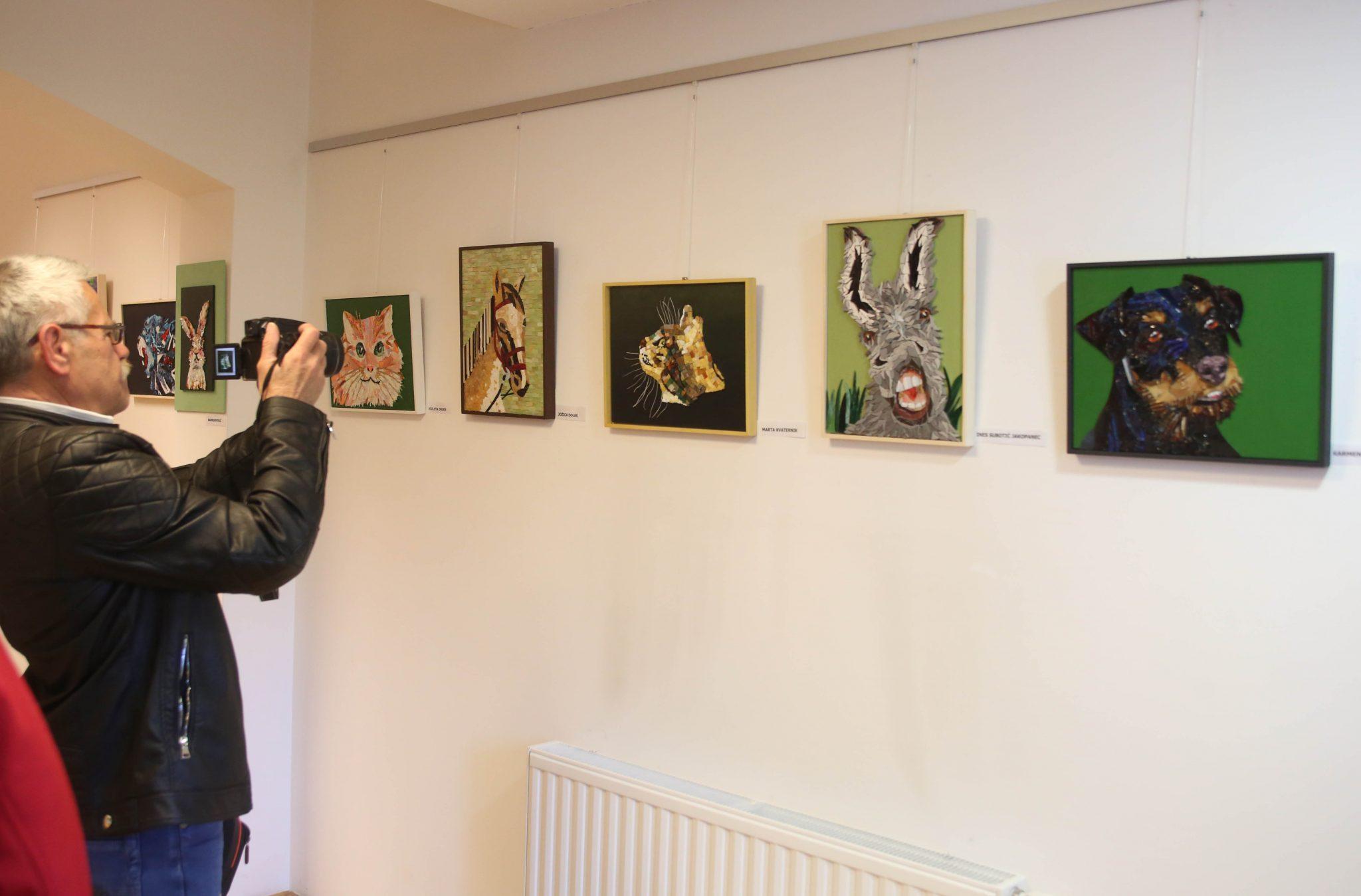 RAZSTAVA MOZAIKOV 03 FOTO LJUBO VUKELIČ - Odprtje razstave - Pogled v živalski svet - sekcije Mozaik KD Rak Rakek