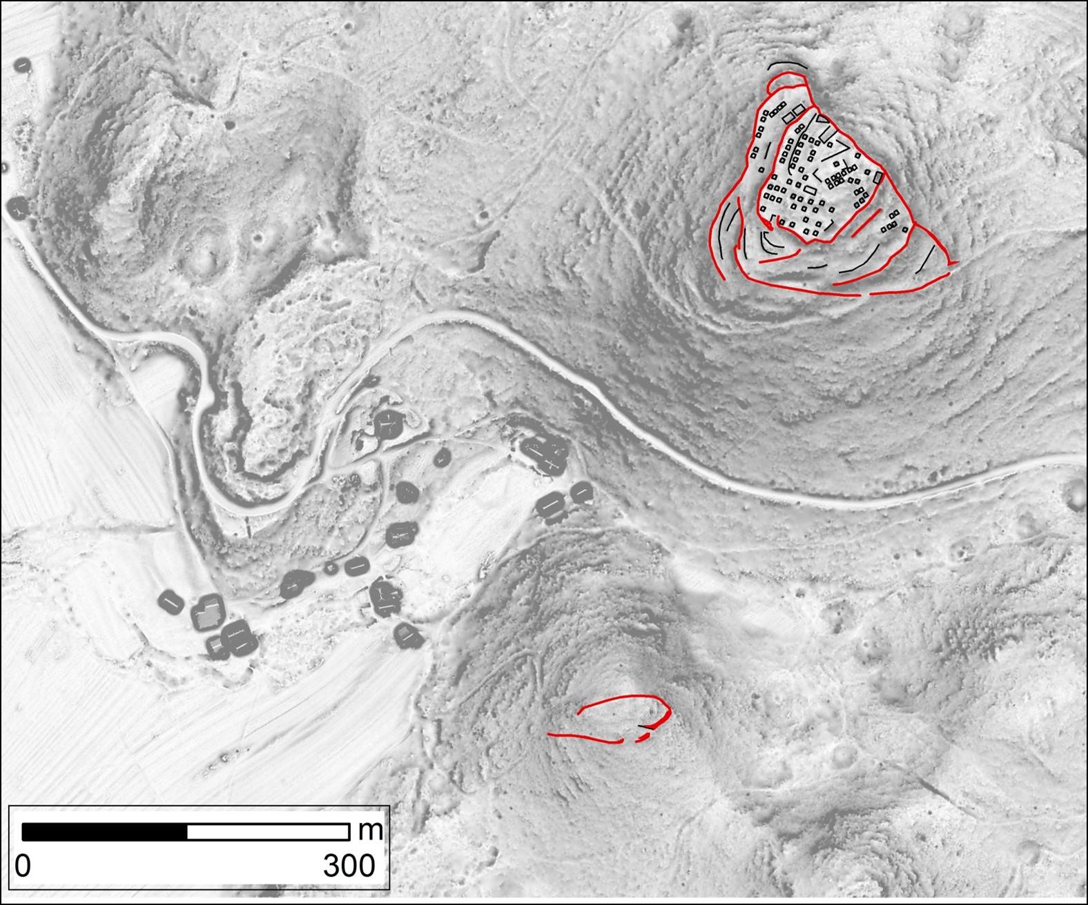 Slika1 - Arheološko najdišče Žerunšček v železni dobi:  od leta 1000 pr. n. št. do prihoda Rimljanov