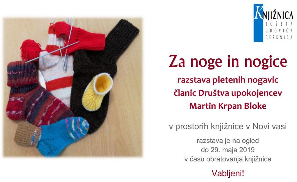 Za noge in nogice 1024x626 - Za noge in nogice - razstava pletenih nogavic članic Društva upokojencev Martin Krpan Bloke
