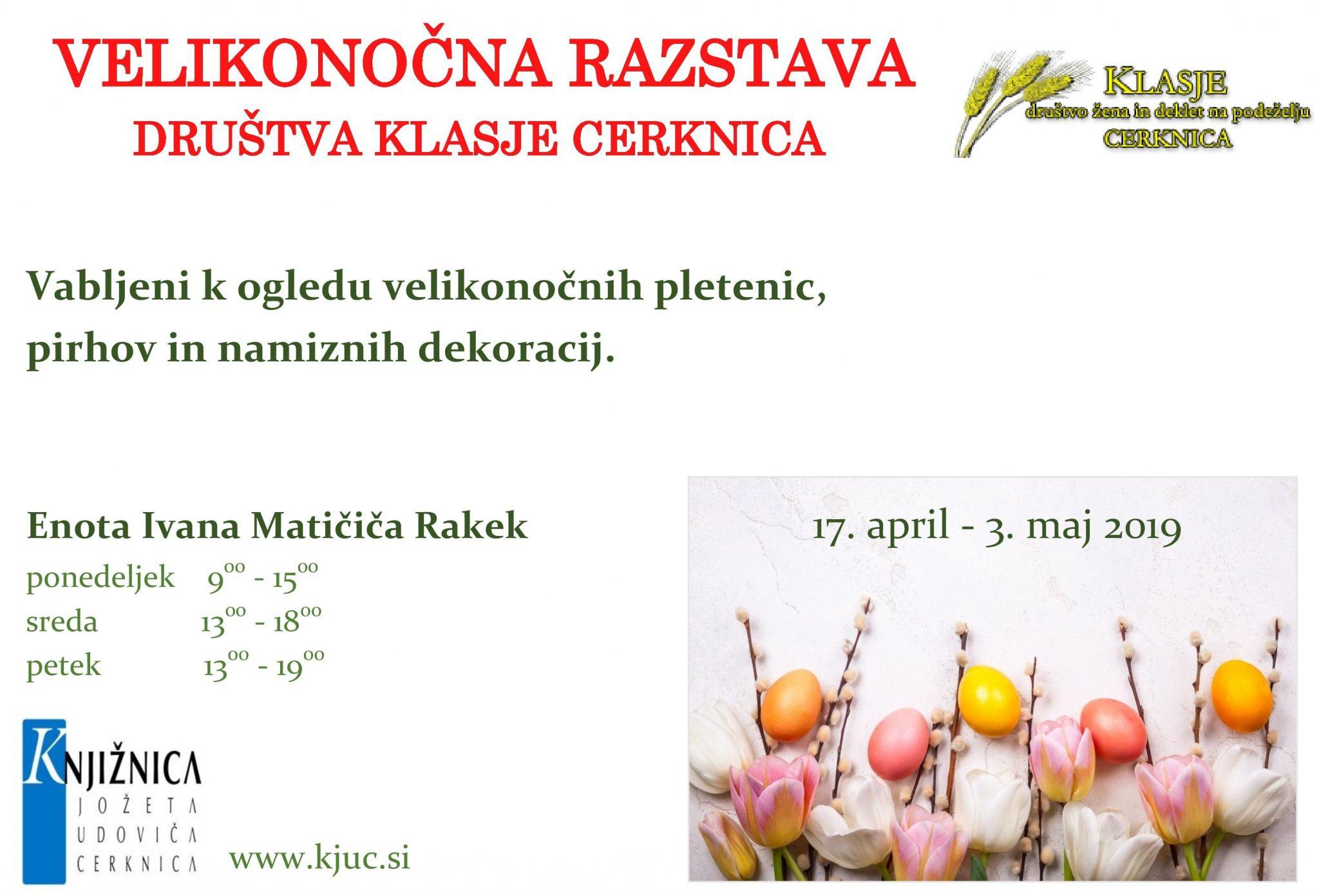 cover 6 - Velikonočna razstava društva Klasje Cerknica