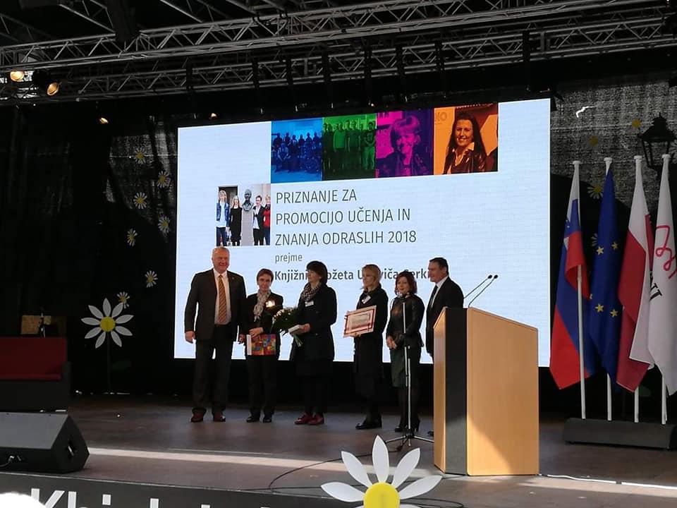 2 - Knjižnica prejemnica Priznanja za promocijo učenja in znanja odraslih Andragoškega centra Slovenije